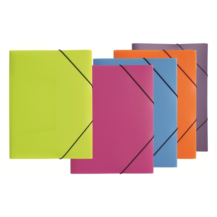 10 x PAGNA Gummizugmappe TREND COLOURS DIN A3 farbig sortiert Eckspanner Mappe