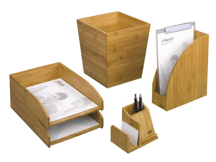 Stehsammler holz  Rexel® Stehsammler Bambus, Holz, A4 | Papersmart