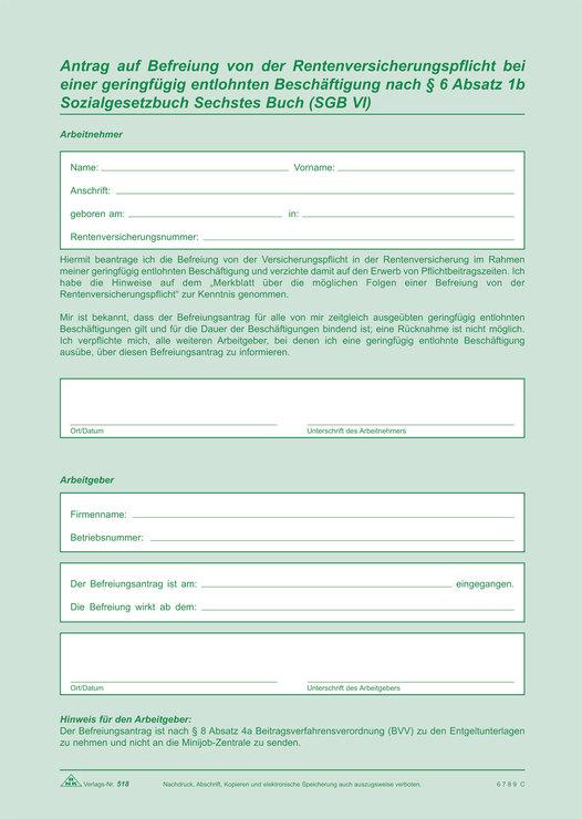 Rnk Arbeitsvertrag Für Geringfügig Und Teilzeit Beschäftigte
