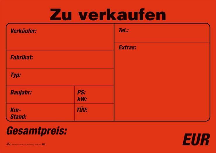 RNK Kaufvertrag für ein gebrauchtes Kraftfahrzeug - 10 Stück | Papersmart