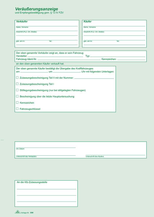 Rnk Kaufvertrag Für Ein Gebrauchtes Kraftfahrzeug Papersmart