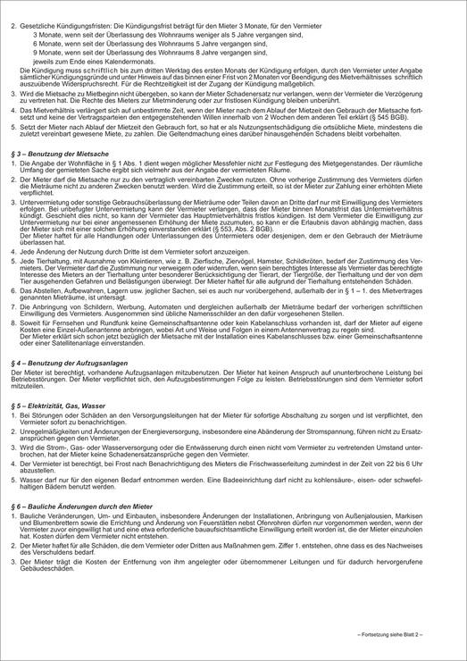 RNK Universal-Mietvertrag für Wohnungen, mit ...