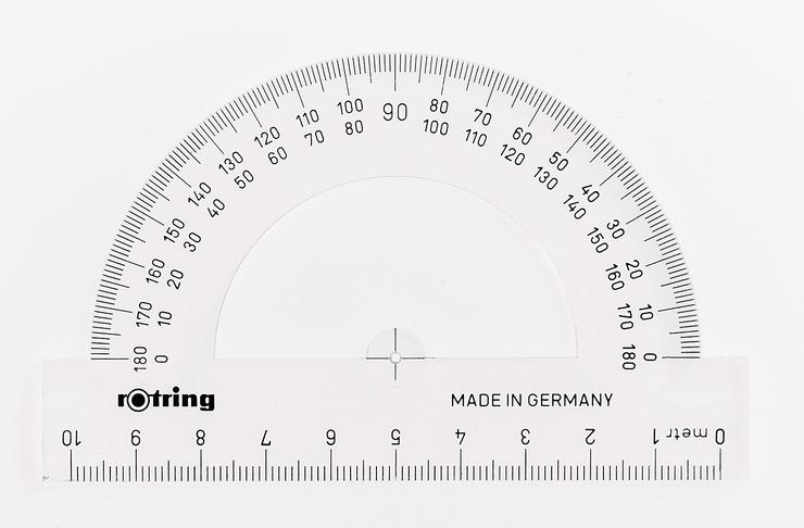 rotring Kreiswinkelmesser (Büro, Schule) Halbkreis-Winkelmesser | Papersmart