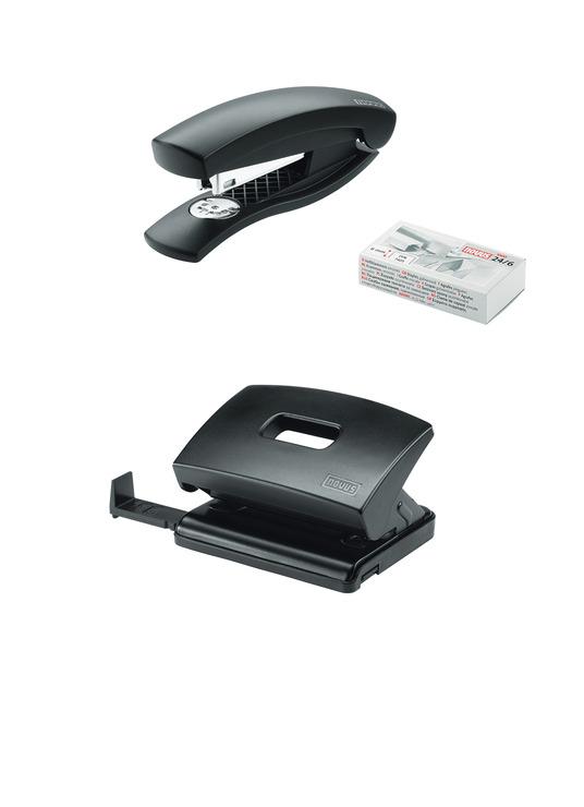 schreibtisch accessoire set garnitur novus twinset c 1 c 216 schwarz hefter u papersmart. Black Bedroom Furniture Sets. Home Design Ideas