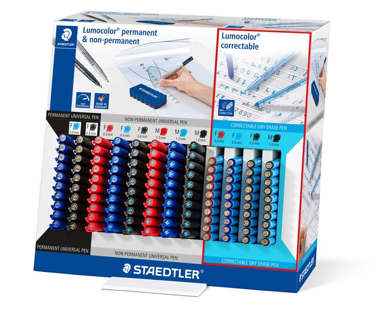 Staedtler Lumocolor permanent Marker 318-3 blau Größe F 0,6mm