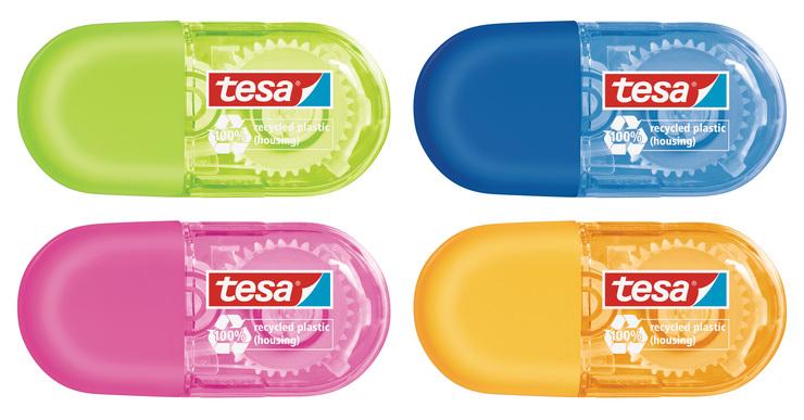 Tesa-Roller Band-Korrektur-Roller Correction Mini-Roller in Blau Pink Grün Gelb