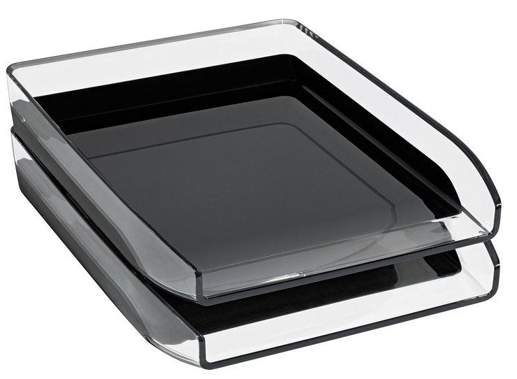 WEDO® Briefablage Kunststoff A4 Starlet gk.sw | Papersmart
