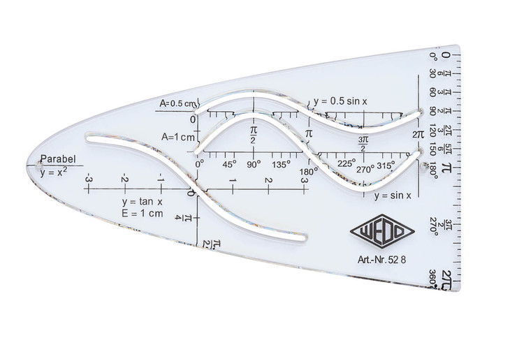 wedo parabel 3 kurven tr einheitsparabel papersmart. Black Bedroom Furniture Sets. Home Design Ideas